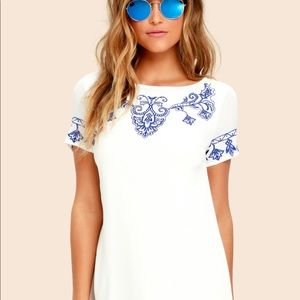 Grecian shift dress